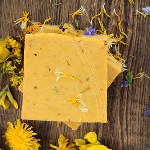 Мыло Одуванчик и льняное масло Ayurvedic Soap Laura Forest