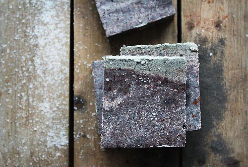 Мыло Японское умывание. Уголь, глина, мята  Ayurvedic Soap Laura Forest