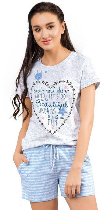 Шорты женские Меланж Clever Wear CLE LSH28-659