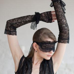 Комплект: маска, перчатки из кружева OPIUM L309